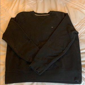 black tommy hilfiger crew neck sweatshirt
